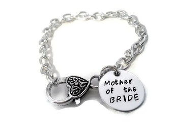 """Mother of the BRIDE Bracelet with printed card """"Today a Bride Tomorrow a Wife...forever your little girl"""", wedding gifts for mothers"""