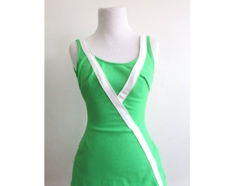 Vintage 1960's Bathing Suit l Lime Green JCPenney One Piece Bathing Suit l Size Medium l Vintage Bathing Suit