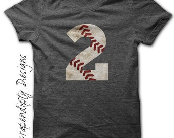 Baseball Number Iron on Transfer - Iron on Custom Baseball Shirt / Sports Birthday Party / Little League Tshirt / Moms Tball Shirt IT421
