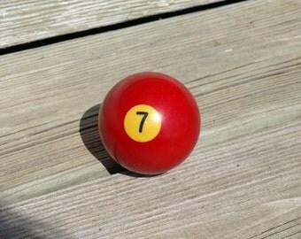 Vintage Billiard Ball - Red Number 7