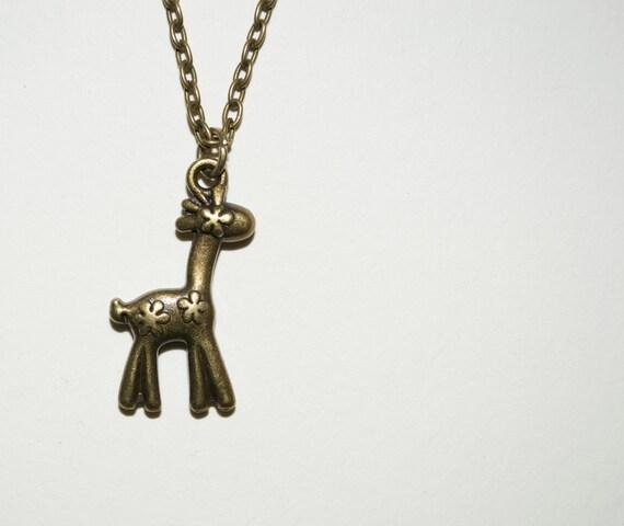 Giraffe Necklace, Toy Giraffe Charm Pendant, Animal Necklace, Giraffe Pendant, Simple Necklace, Everyday Jewelry, Stuffed Toy Giraffe Charm