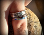 Stacking Personalized Rings - Hand Stamped Rings - Custom Rings - Stacking Rings