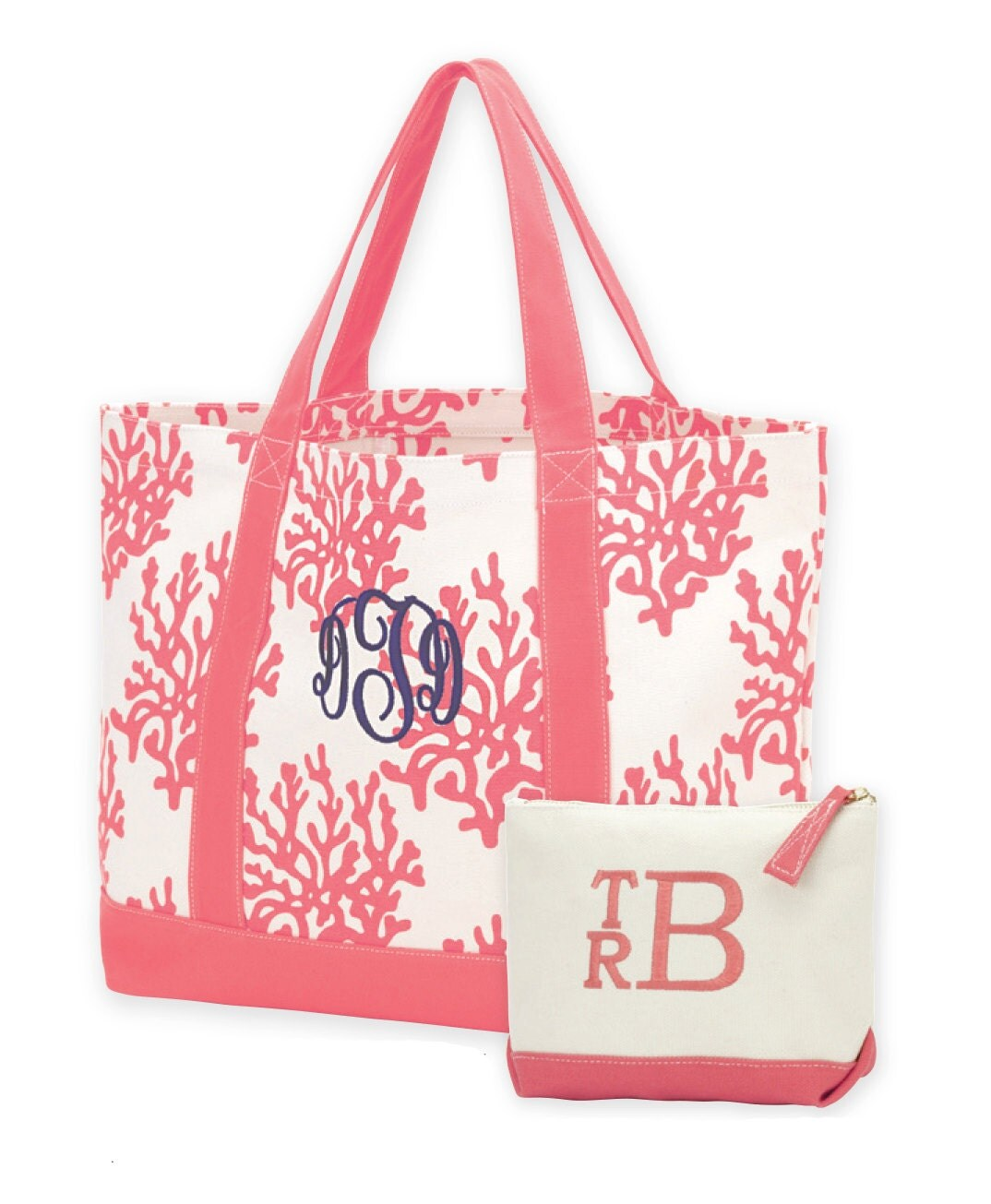 personalized womens tote bag set monogram bag set