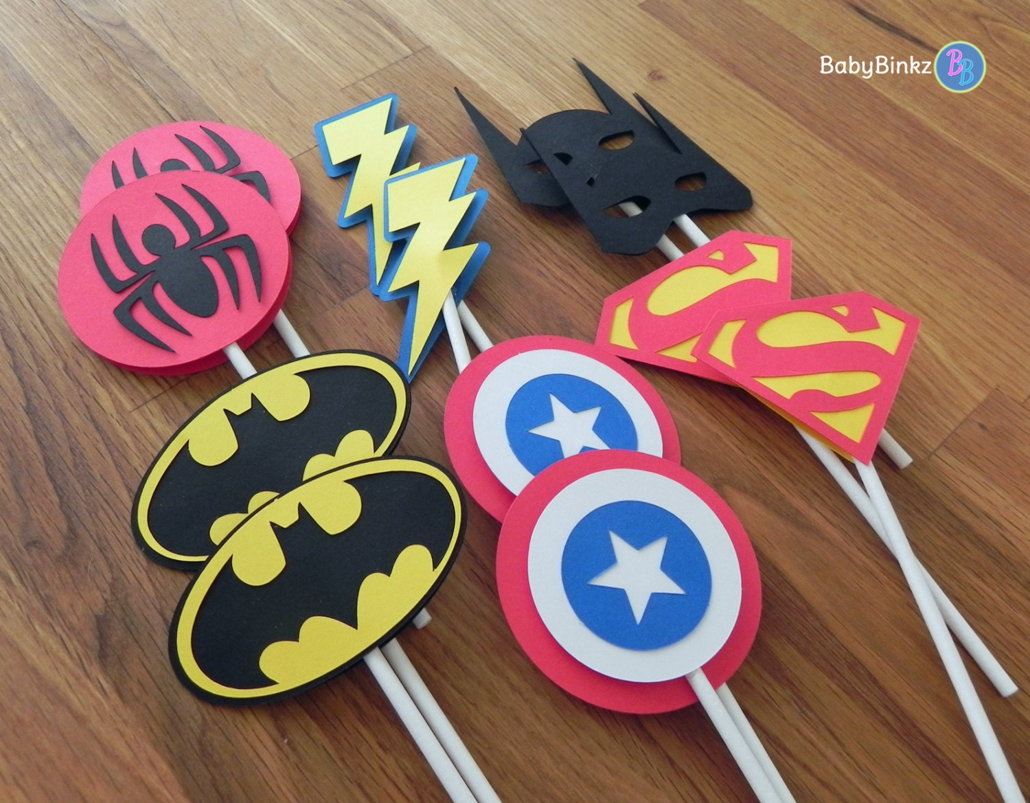 superman wedding captain america wedding band Die Cut Super Hero Logo Cupcake Toppers superhero batman captain america spiderman superman comic birthday party decorations wedding