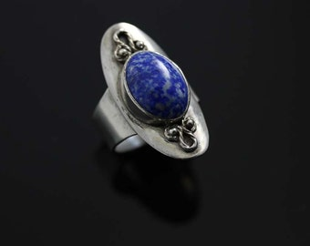 Lapis Shield Ring