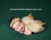 Gold Newborn Angel Wings Gold Baby Angel Wings Sweet Celestial Celebration Wings And Headband Set Newborn Photo Prop