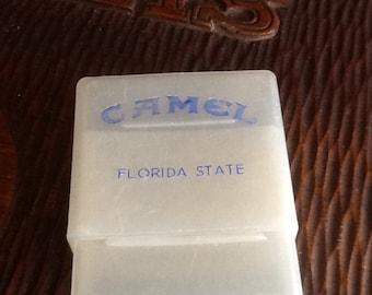 Camel cigarette plastic pack Florida State