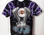 Sweet Harley Davidson Tshirt - Thunder & Lightning - L