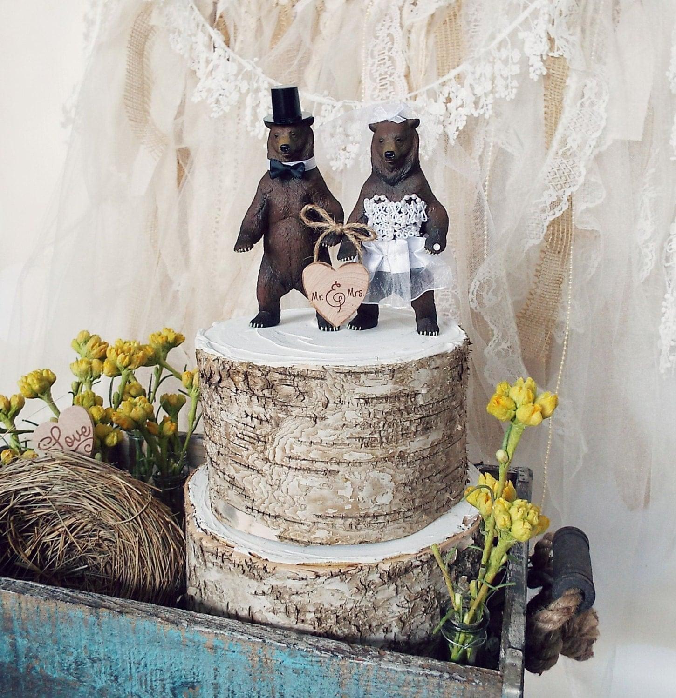 Brown bear wedding cake topper circus zoo by MorganTheCreator
