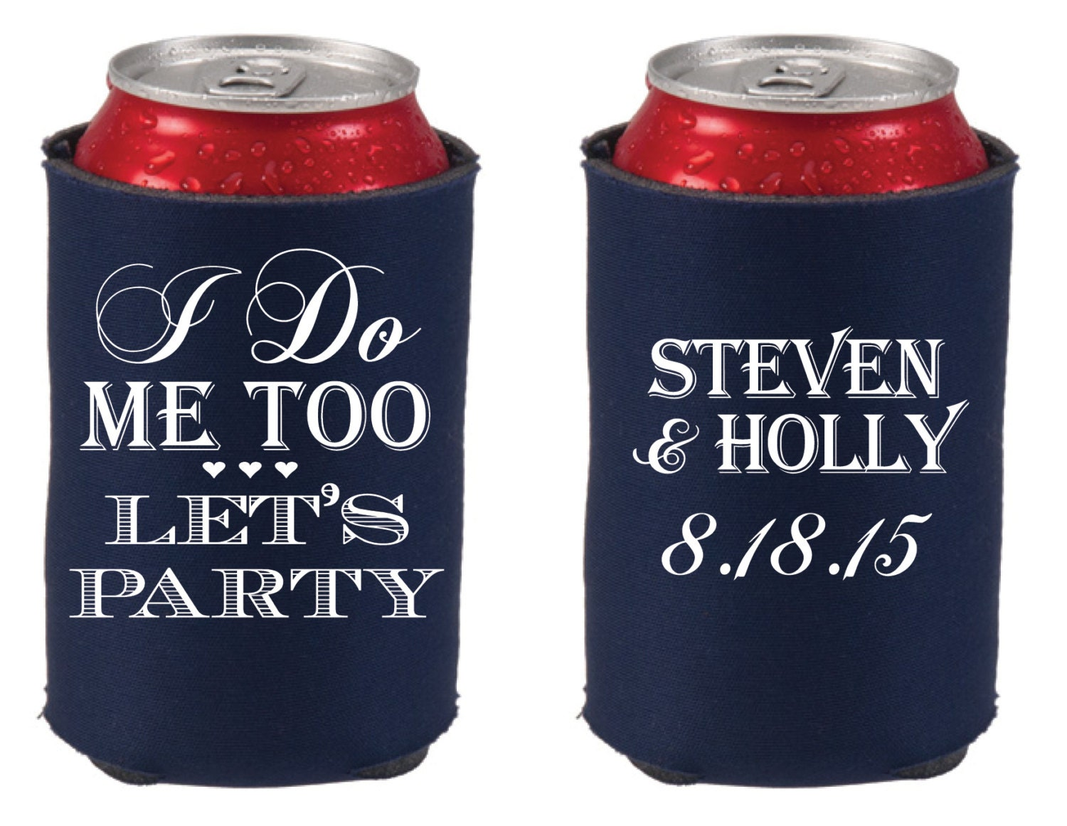 Personalized Can Coolers ~ Personalized can coolers wedding favors cooler