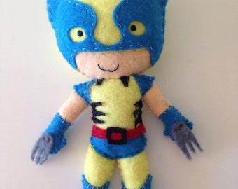 Marvel Super hero Wolverine felt toy / doll for super kids