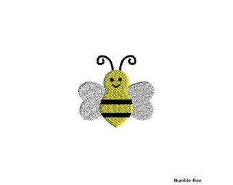 Mini Bumble Bee Machine Embroidery Design-INSTANT DOWNLOAD