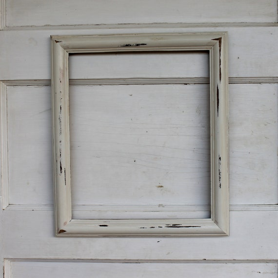 white wood frame large 11 x 13 picture photo vintage empty gallery wedding distressed rustic shabby