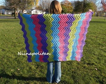 Sweet Tarts Crocheted Afghan - CLEARANCE - Ready to Ship