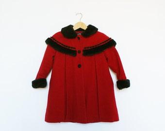 Stunning London Fog Red Swing Coat XS