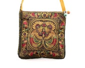 Boho Cross-Body Bag HMONG Embroidered Hippie Handmade Thailand (BG123S-MOB)