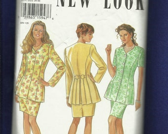 New Look 6256 Flirty Princess Seam Jacket with Back Pleats & Pencil Skirt Size 8 to 14