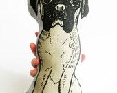 boxer dog pillow, stuffed animal for dog lovers