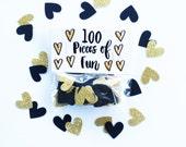 Party Confetti, Black gold Wedding, gold wedding, gold shower, gold party, gold and black decor, gold