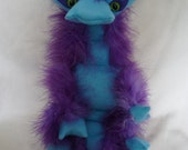 RESERVED FOR KAREN-- Bridget Boo-berry dragon: fuzzy finger puppet from such things puppets
