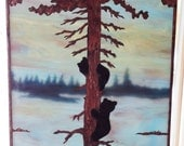 """Stained Glass Copper Overlay -Bear Cubs -""""The Cub Scouts"""""""