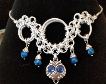 Owl Chainmaille Necklace