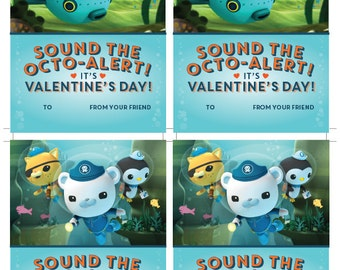 Octonauts printable Valentine's Day cards - instant download