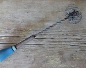 Vintage Wire Egg Beater - Rustic Kitchen - Wall Hanging, Art