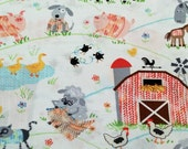 NEW - Timeless Treasures - Knitting On The Farm - White - Novelty Fabric - Choose Your Cut 1/2 or Full Yard