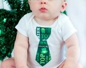 St.Patricks Tie, St.Patties Tie, St.Patties day, St.Patricks Day, St.Patricks Day Tie, Boys Bodysuit Tie, St.Patties outfit, Boys st.patties