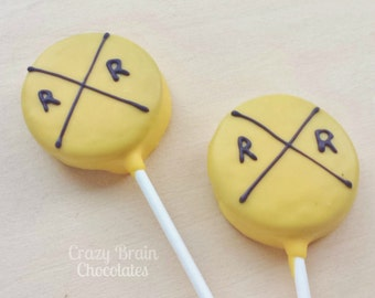 Chocolate Dipped Train Sign Oreo Pops (12)