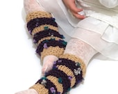 Flowers boot cuffs. (veronicawilliams3) Knit Lace Leg Warmers -