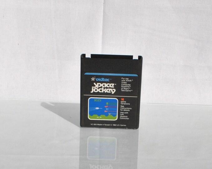Vintage Atari 2600, Space Jockey, Atari Game, 1982, Atari, Scrolling Shooter, Tanks, Jet Planes, Prop Planes, Helicopters, Weather Balloons