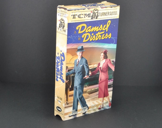 Vintage A Damsel In Distress VHS Tape - 1937 Remake - Fred Astaire & Gracie Allen - Movie - MGM - Musical - Dancing - VCR