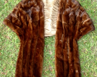 Vintage Mink Stole Wrap by The Hecht Co.- Vintage Women's Clothing
