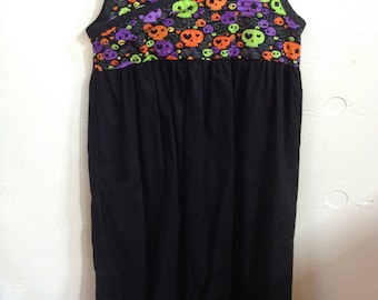 Multi Colored Skull Dress Size 9