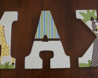 Custom Hand Painted Letters, Jungle Friends Nursery