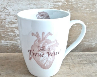 Twue Wuv Mug, Mawwiage, Book Movie Quote, Impressive, Marriage Gift, Masked Man, Dread Pirate, Twoo Wuv, Marriage, True LoveReady to Ship