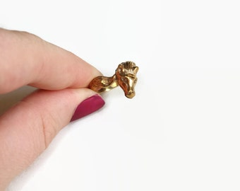 Vintage Bronze Horse Ring