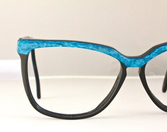 Vintage 80's Turquoise Oversized Sunglasses