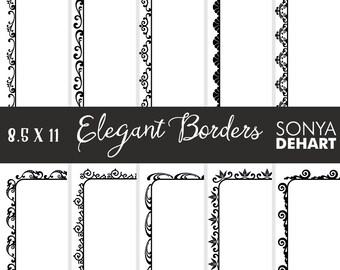 60% OFF SALE Clipart Elegant Doodle Borders and Frames  Clip Art CA213