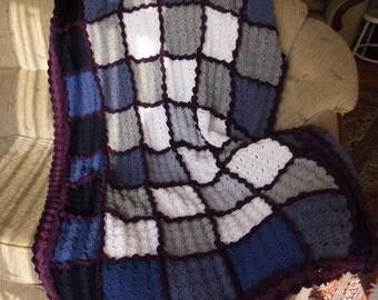Wavy Edges - THROW Blanket - CROCHET Throw / Crochet Blanket / Afghan Blanket / Lap Blanket / Cozy Blanket / Soft Blanket / Custom Order