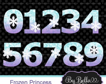 Frozen clipart numbers number clip art Glitter, clipart number age frozen princess anna elsa for scrapbooking or invitations
