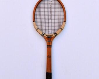 1940s War Standard Tennis Racket Dunlop Maxply Tennis Racket Made in England Vintage Wooden Tennis Racket Vintage Tennis Racket