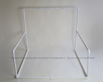 Newborn Backdrop Stand - Great backdrop stand for newborn photography. Works with any size newborn posing bean bag