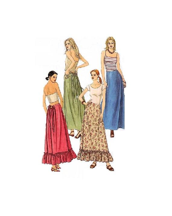length maxi skirt mccall s 2803 sewing pattern ruffle
