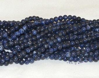 "Sodalite 6mm Round Gemstone Beads - 15.50"" Strand"