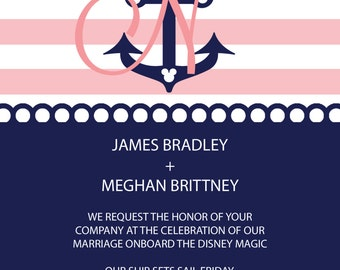 anchor cruise wedding invitation