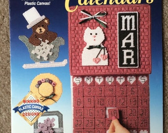 Plastic Canvas Perpetual Calendars by the Needlecraft Shop, Leaflet 913203