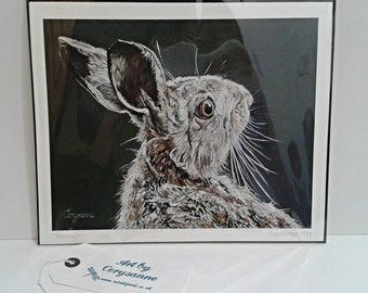 """Hare 8"""" x 10"""" Giclee Limited Edition Giclee Print - Narek - PRE ORDER - Original hare limited edition print numbered and signed run of 25"""